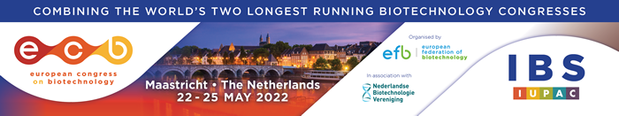 ecb2022 European Congress on Biotechnology - Maastricht, The Netherlands. 22 - 25 May 20222. Organised by the European Federation of Biotechnology EFB and IBS